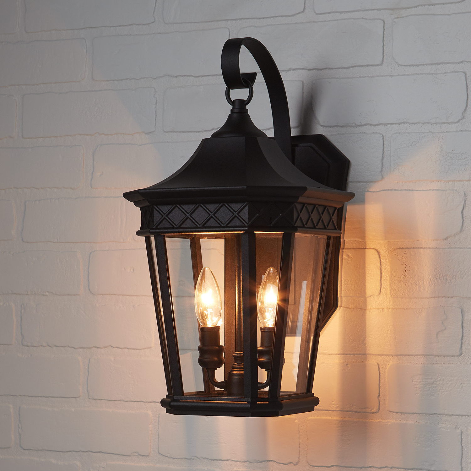 Preferred Foxfield 2 Light Outdoor Entrance Wall Sconce – Black For Rockefeller Black 2 – Bulb  Outdoor Wall Lanterns (View 16 of 20)