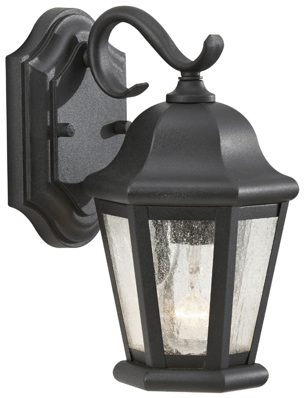 Preferred Heitman Black Wall Lanterns With Feiss Ol5900 Bk Martinsville Small Black 10 Inch Tall (View 2 of 20)