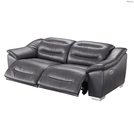 Preferred Pacifica Gray Power Reclining Sofas Within Modern 972 Dark Grey Leather Power Reclining Sofaesf (View 15 of 20)