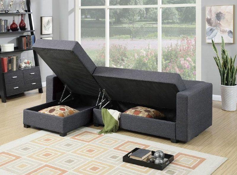 Preferred Palisades Reversible Small Space Sectional Sofas With Storage Inside 10 Small Living Decor Room Ideas To Use In Your Home (View 17 of 20)