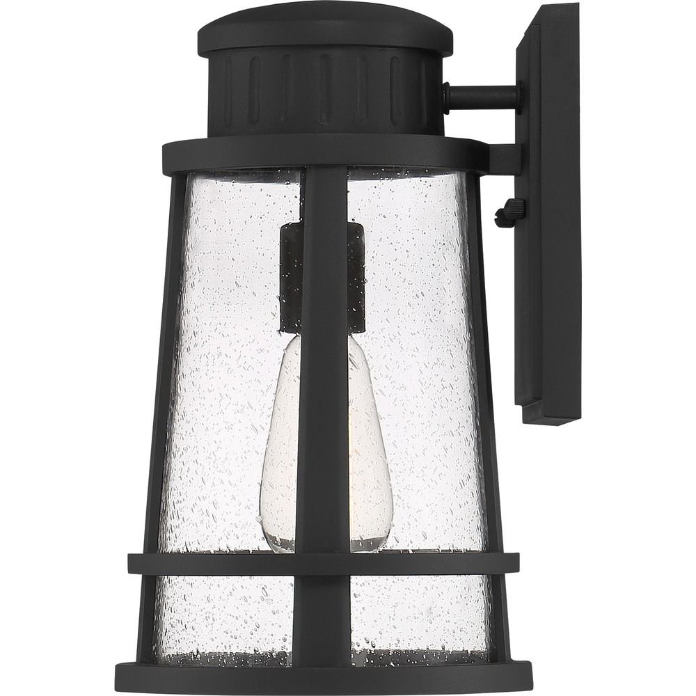 Preferred Quoizel Lighting Dunham Earth Black Outdoor Wall Light Inside Ainsworth Earth Black Outdoor Wall Lanterns (View 20 of 20)