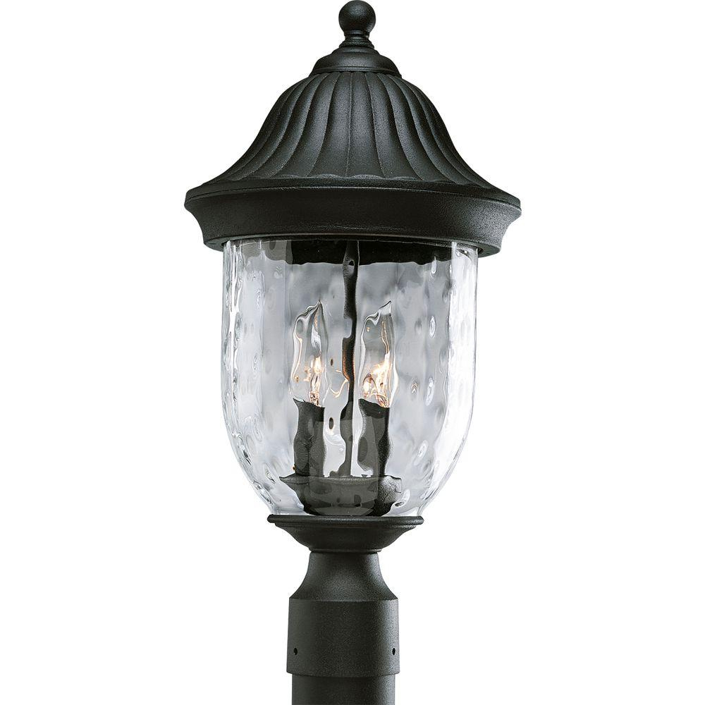 Preferred Rockefeller Black 2 – Bulb  Outdoor Wall Lanterns With Regard To Progress Lighting Coventry Collection Textured Black  (View 7 of 20)