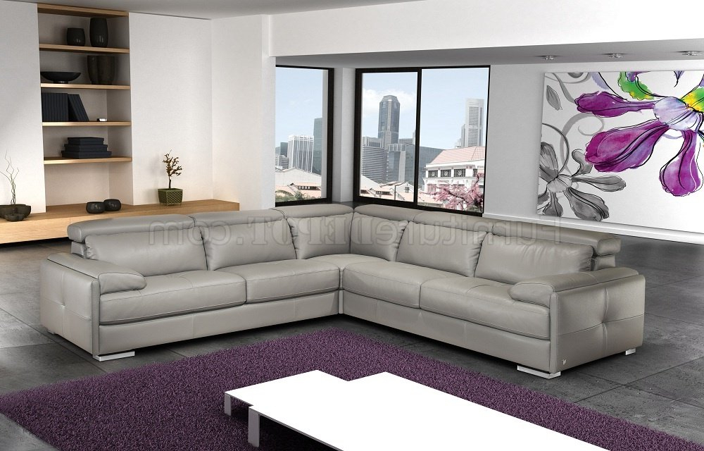 Preferred Sectional Sofas In Gray In Gary Sectional Sofa In Ash Gray Italian Leatherj&m (View 9 of 20)