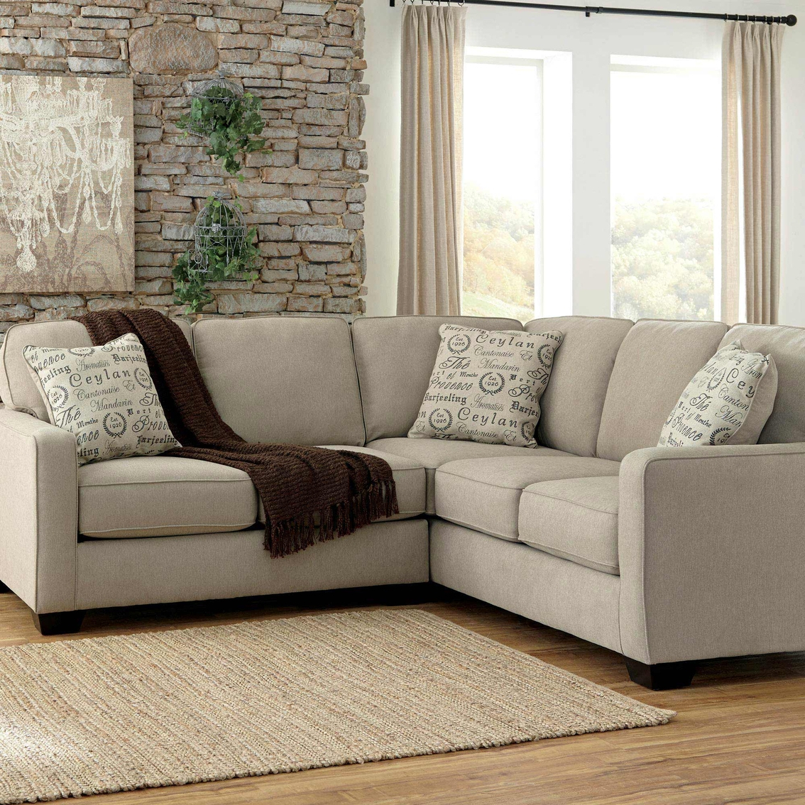 Preferred Small 2 Pc Sectional Sofa Kerri Charcoal 2 Piece Sectional In 2pc Burland Contemporary Sectional Sofas Charcoal (View 11 of 20)