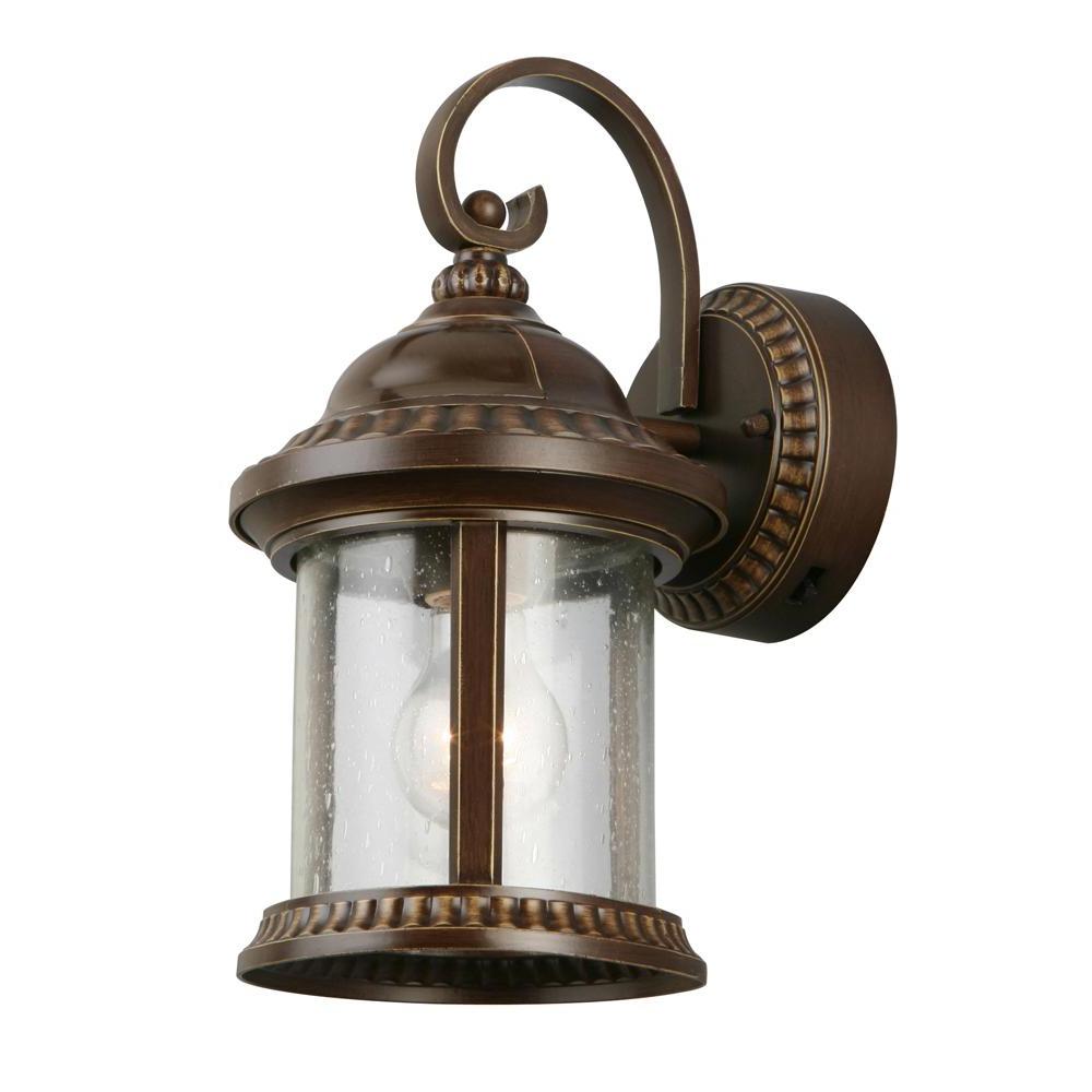 Preferred Tangier Dark Bronze Wall Lanterns In Home Decorators Collection Bronze Motion Sensor Outdoor (View 3 of 20)