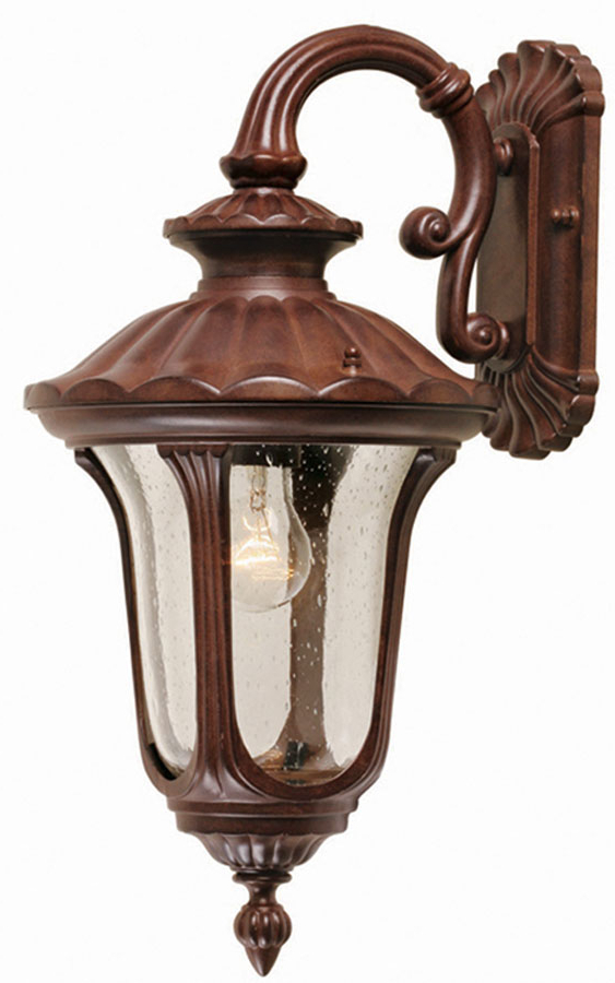 Preferred Tangier Dark Bronze Wall Lanterns Pertaining To Elstead Chicago Rust Bronze Small Outdoor Wall Lantern Cc2/s (View 7 of 20)