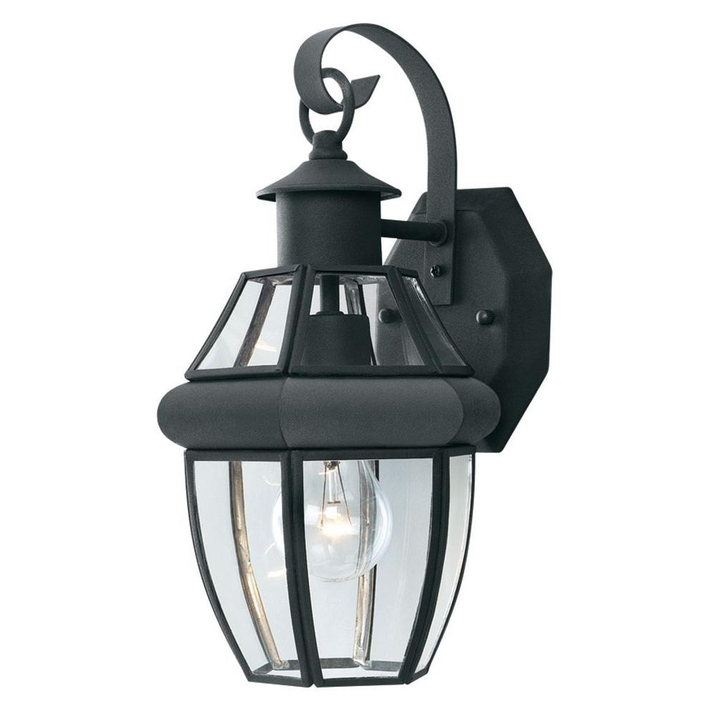 Preferred Thomas Lighting Heritage 1 Light Black Outdoor Wall Mount Intended For Brookland Outdoor Wall Lanterns (View 10 of 20)