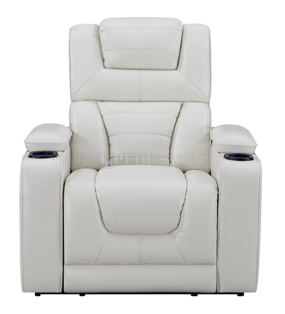 Preferred Walker Gray Power Reclining Sofas Pertaining To U1877 Power Motion Sofa In White Leather Gelglobal W (View 8 of 20)