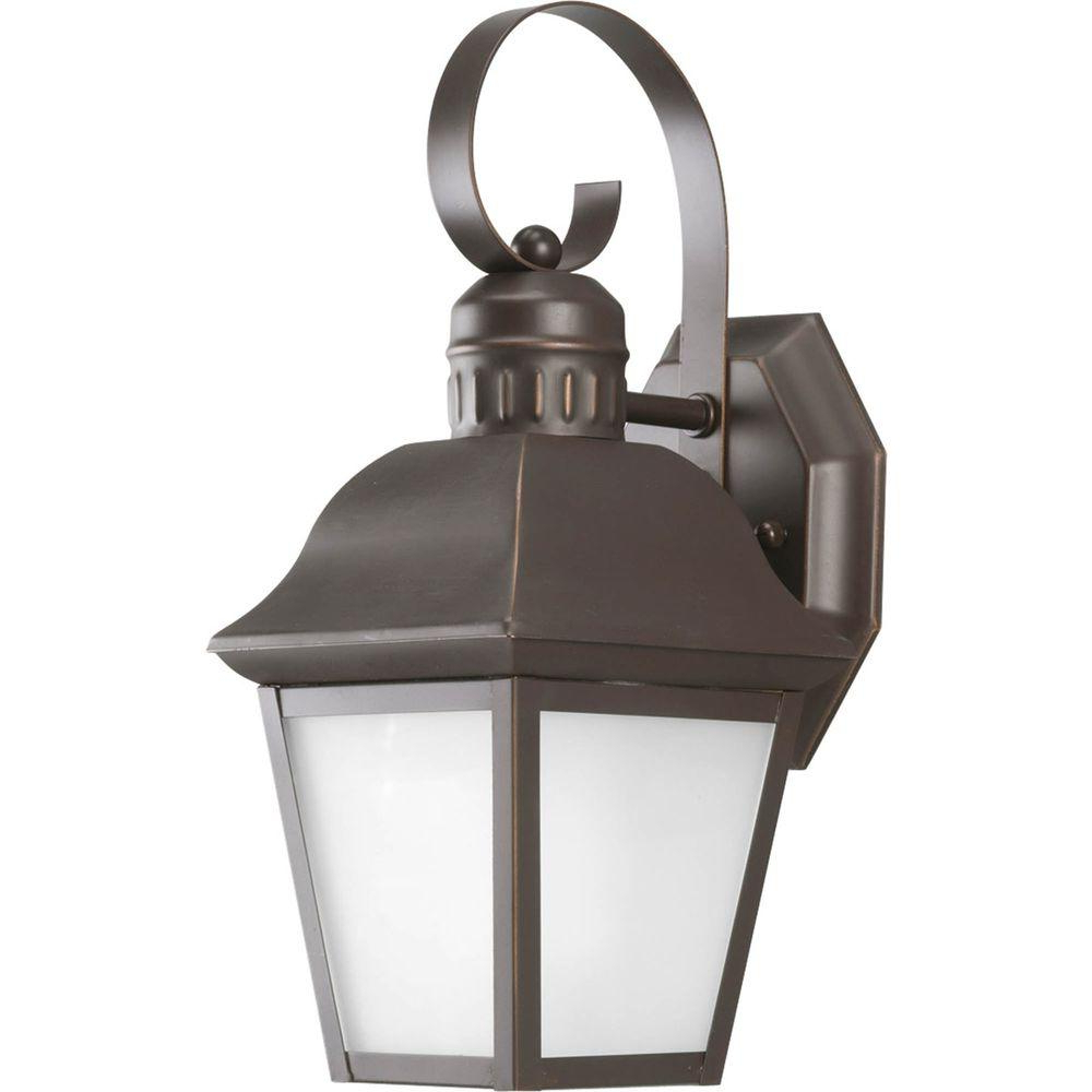 Progress Lighting Andover Collection Wall Mount Outdoor In Famous Cowhill Dark Bronze Wall Lanterns (View 3 of 20)