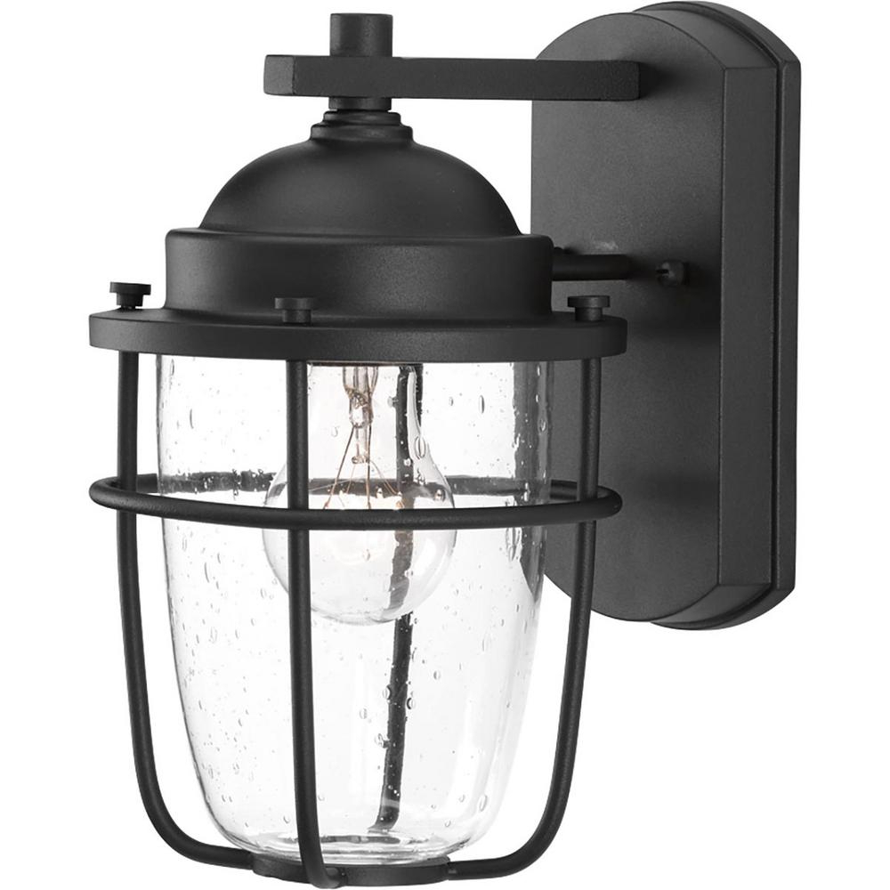 Progress Lighting Holcombe Collection 1 Light Textured Within Recent Merild Textured Black Wall Lanterns (View 2 of 20)