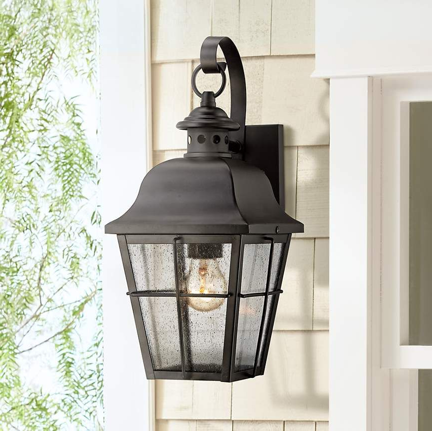 """Quoizel Millhouse 15 1/2"""" High Black Outdoor Wall Light In Current Rockefeller Black 2 – Bulb  Outdoor Wall Lanterns (View 3 of 20)"""