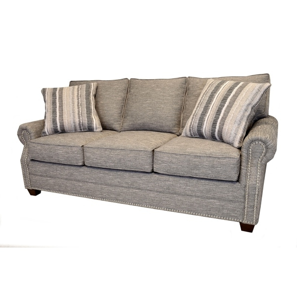 Radcliff Nailhead Trim Sectional Sofas Gray With Well Known Shop Alston Heather Grey Sofa With Nailhead Trim – Free (View 12 of 20)
