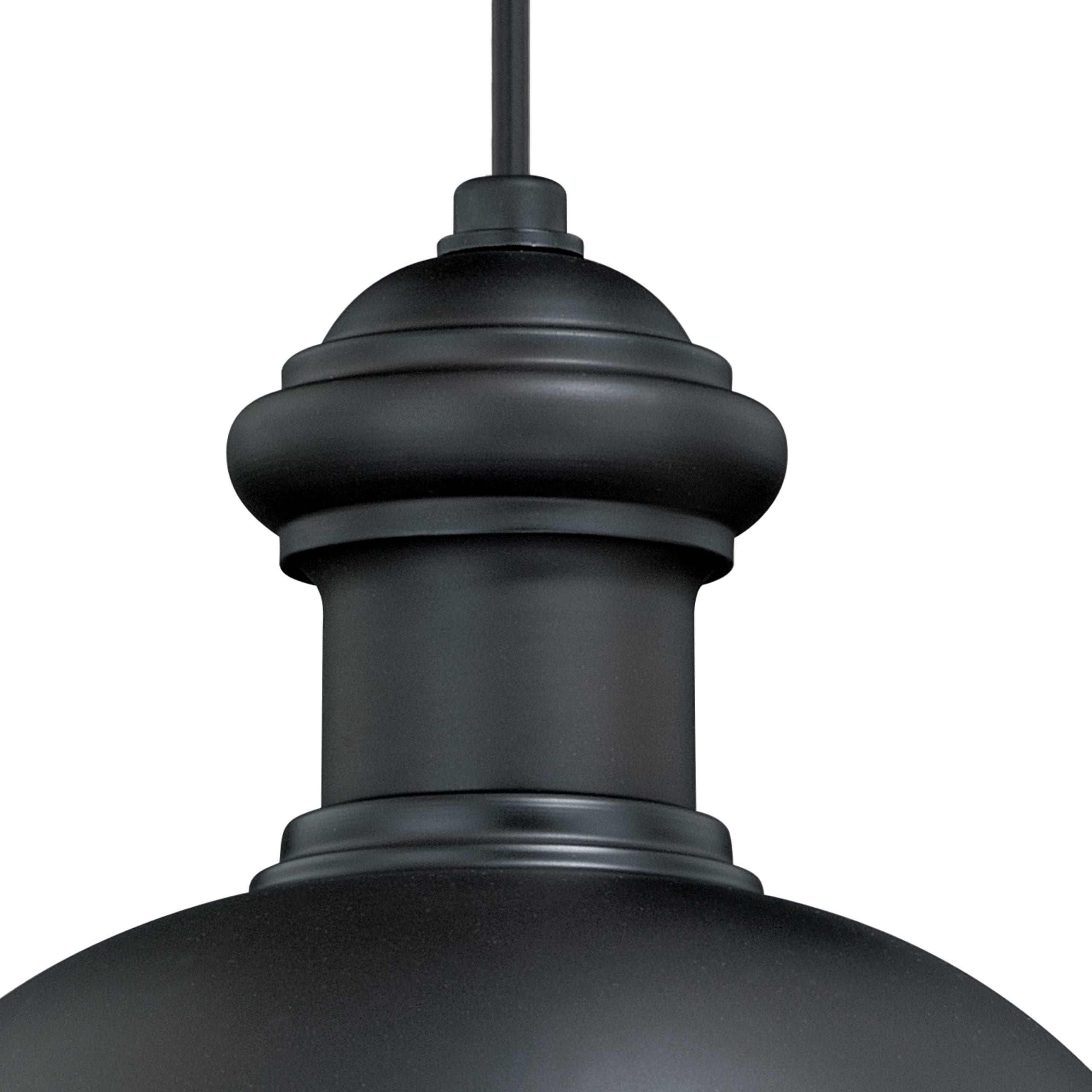 Ranbir Oil Burnished Bronze Outdoor Barn Lights With Dusk To Dawn For Most Popular Franklin 10 In Outdoor Pendant Oil Burnished Bronze – Vaxcel (View 14 of 20)
