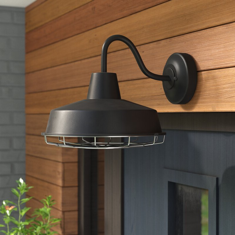 Recent Aleena Outdoor Barn Lights Throughout Trent Austin Design® Capitol Reef 1 Light Led Outdoor Barn (View 2 of 20)