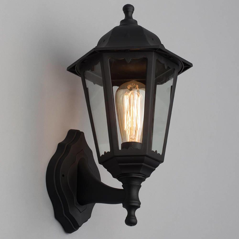 Recent Borde Black Outdoor Wall Lanterns Within Neri Outdoor Polycarbonate Wall Lantern – Black (View 15 of 20)