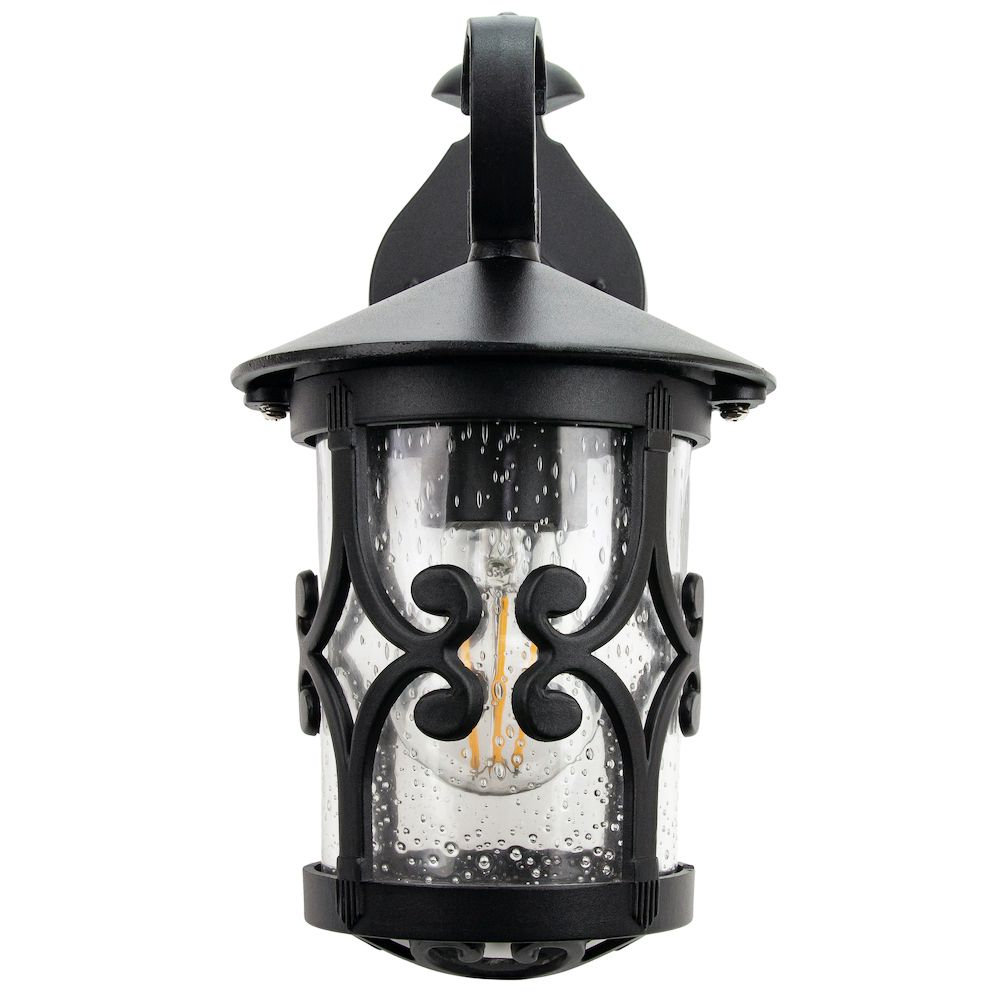Recent Classic Matt Black Lantern Ip44 Outdoor Wall Light With Throughout Vendramin Black Glass Outdoor Wall Lanterns (View 2 of 20)