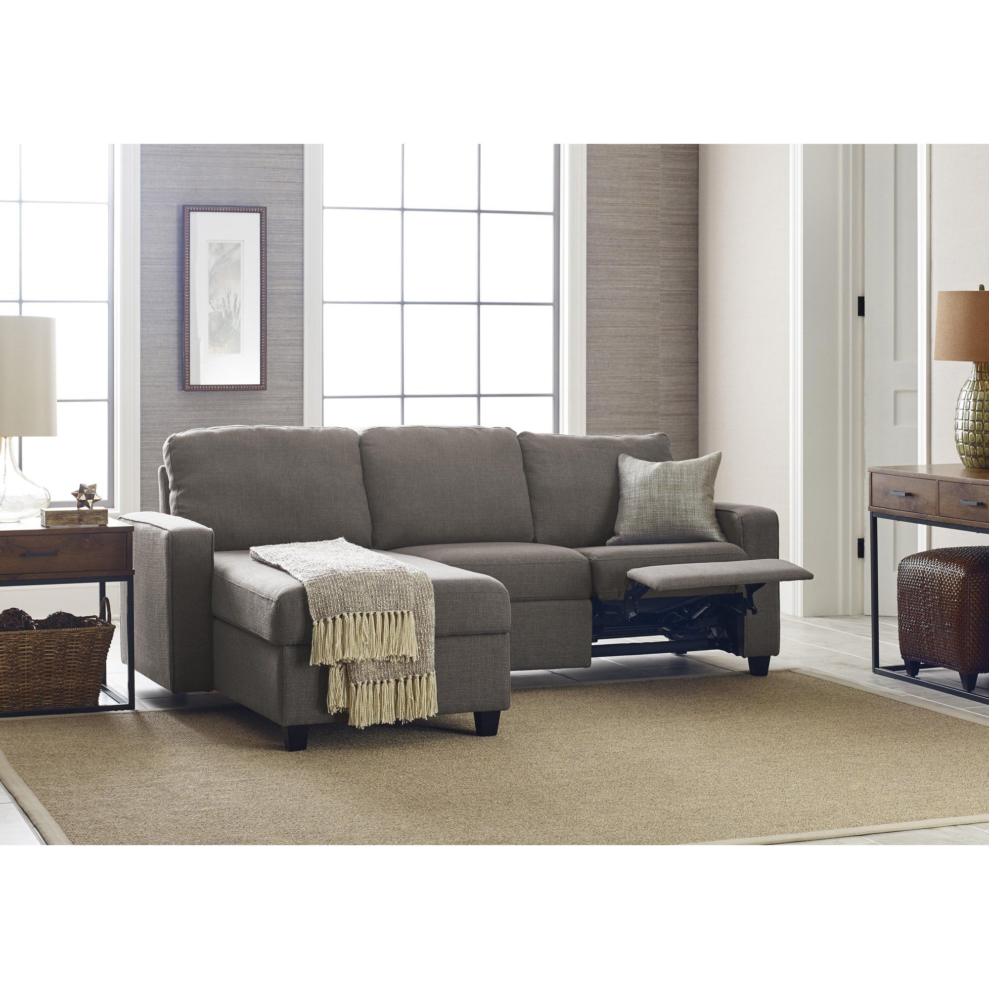 Recent Copenhagen Reclining Sectional Sofas With Right Storage Chaise Intended For Serta Palisades Reclining Sectional With Right Storage (View 4 of 20)