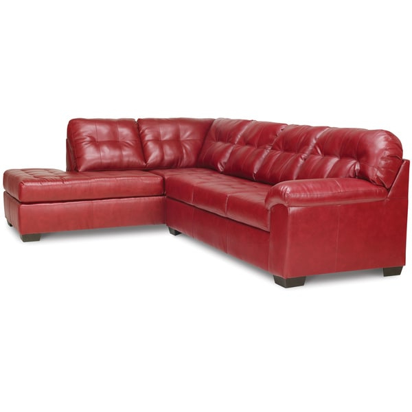 Recent Cromwell Modular Sectional Sofas Regarding Shop Art Van Soho 2 Piece Sleeper Sectional In Red (View 2 of 20)