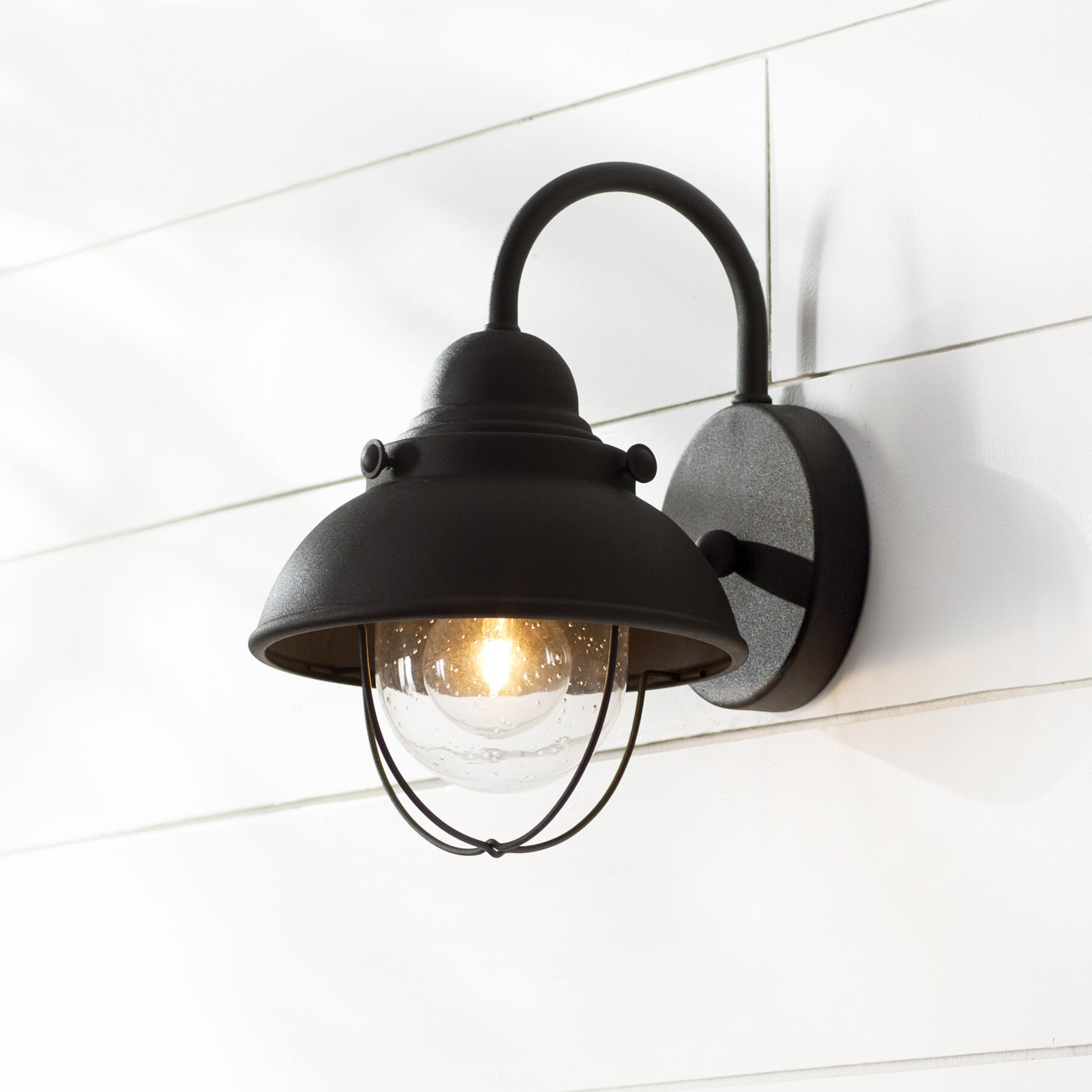 Recent Lainey Outdoor Barn Lights In Breakwater Bay Everetts 1 Light Outdoor Barn Light (View 11 of 20)