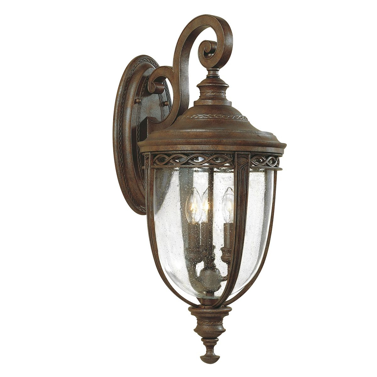 Recent Meunier Glass Outdoor Wall Lanterns Intended For English Bridle Large Outdoor Wall Lantern In A Bronze (View 10 of 20)