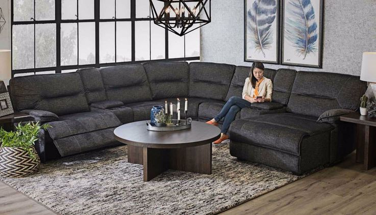 Recent Pacifica Gray Power Reclining Sofas With Regard To Pacifica 7 Piece Sectional In  (View 12 of 20)