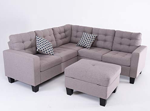 Recent Palisades Reversible Small Space Sectional Sofas With Storage Throughout Good & Gracious Sectional Sofa Set, L Shaped Couch With (View 5 of 20)