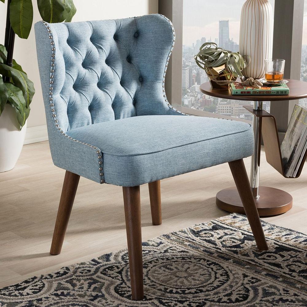 Recent Scarlett Blue Sofas Regarding Baxton Studio Scarlett Mid Century Modern Accent Chair (View 16 of 20)
