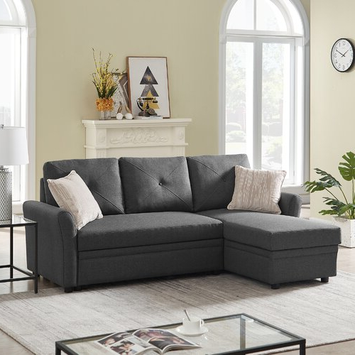 Red Barrel Studio® Reversible Sectional Sofa Couch Regarding Current Palisades Reversible Small Space Sectional Sofas With Storage (View 18 of 20)