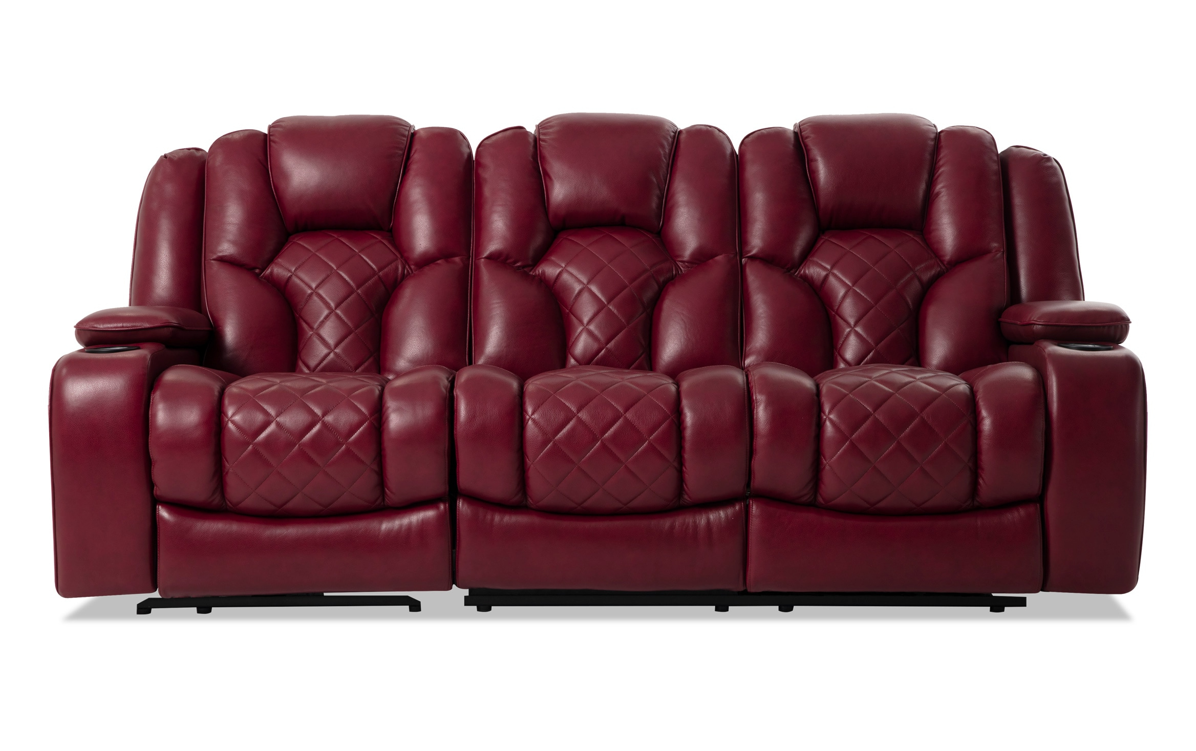 Red Leather Reclining Sofa And Loveseat – Latest Sofa Pictures Within Preferred Panther Fire Leather Dual Power Reclining Sofas (View 4 of 20)