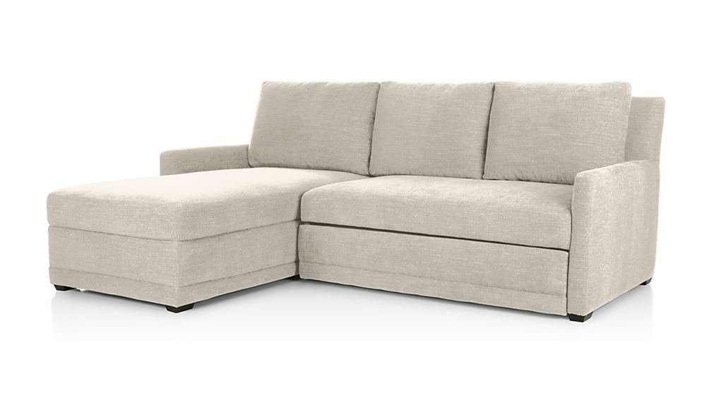 Reston 2 Piece Sleeper Sectional Sofa – Charcoal Pertaining To Most Recent 2pc Burland Contemporary Sectional Sofas Charcoal (View 5 of 20)