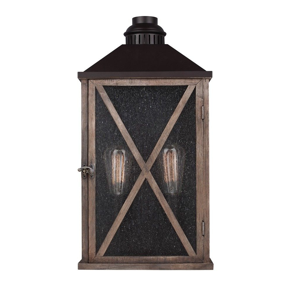 Restoration Warehouse Lumiere' 2 Light Outdoor Wall Sconce Regarding Latest Chicopee 2 – Bulb Glass Outdoor Wall Lanterns (View 15 of 20)