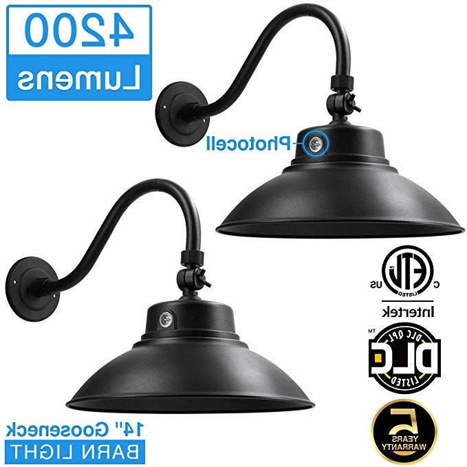 Rickey Black Outdoor Barn Lights Pertaining To Recent Amazon: 14in (View 14 of 20)