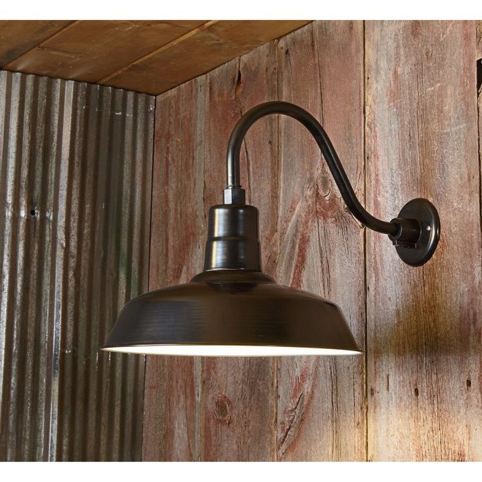 Rickey Black Outdoor Barn Lights With Trendy Npower Multi Mount Warehouse Barn Light — 12in (View 1 of 20)