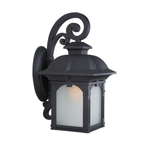 Rickey Matte Antique Black Wall Lanterns Pertaining To Trendy Lnc Industrial Edison Vintage Style 1 Light Outdoor Porch (View 18 of 20)
