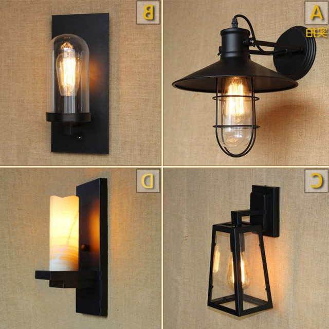 Rickey Matte Antique Black Wall Lanterns With Well Liked Aliexpress : Buy Antique Matte Black Lantern Outdoor (View 8 of 20)