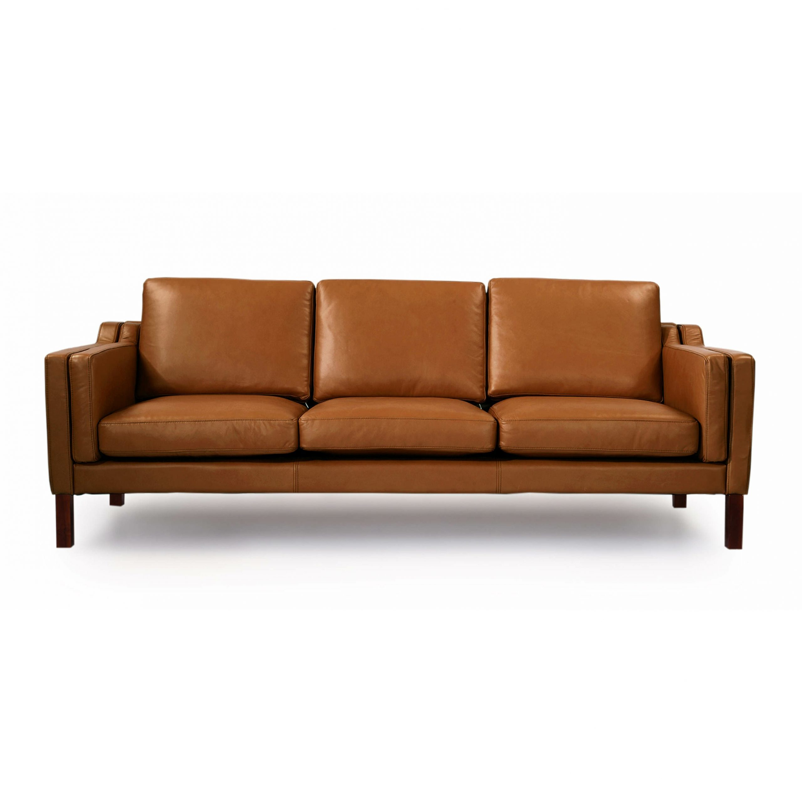 Riley Retro Mid Century Modern Fabric Upholstered Left Facing Chaise Sectional Sofas Pertaining To Widely Used Mid Century Leather Sofa (View 7 of 20)