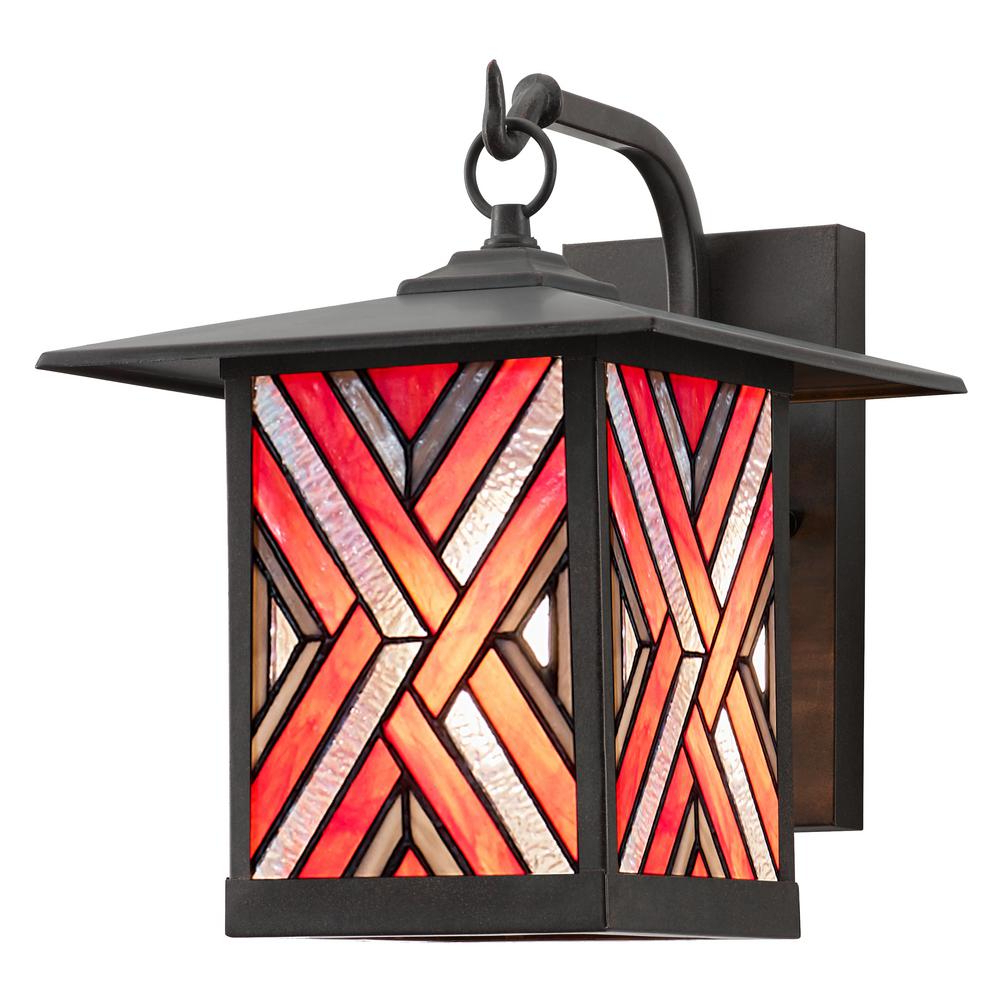 River Of Goods Tiernan 1 Light Oil Rubbed Bronze Outdoor For Most Recent Verne Oil Rubbed Bronze Beveled Glass Outdoor Wall Lanterns (View 18 of 20)