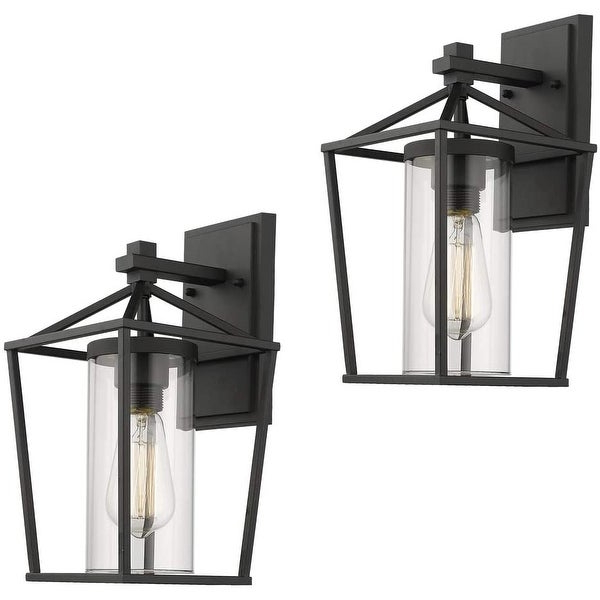 Robertson 2 – Bulb Seeded Glass Outdoor Wall Lanterns Regarding Well Known Shop Emliviar Indoor/outdoor Sconce 2 Pack With Clear (View 13 of 20)