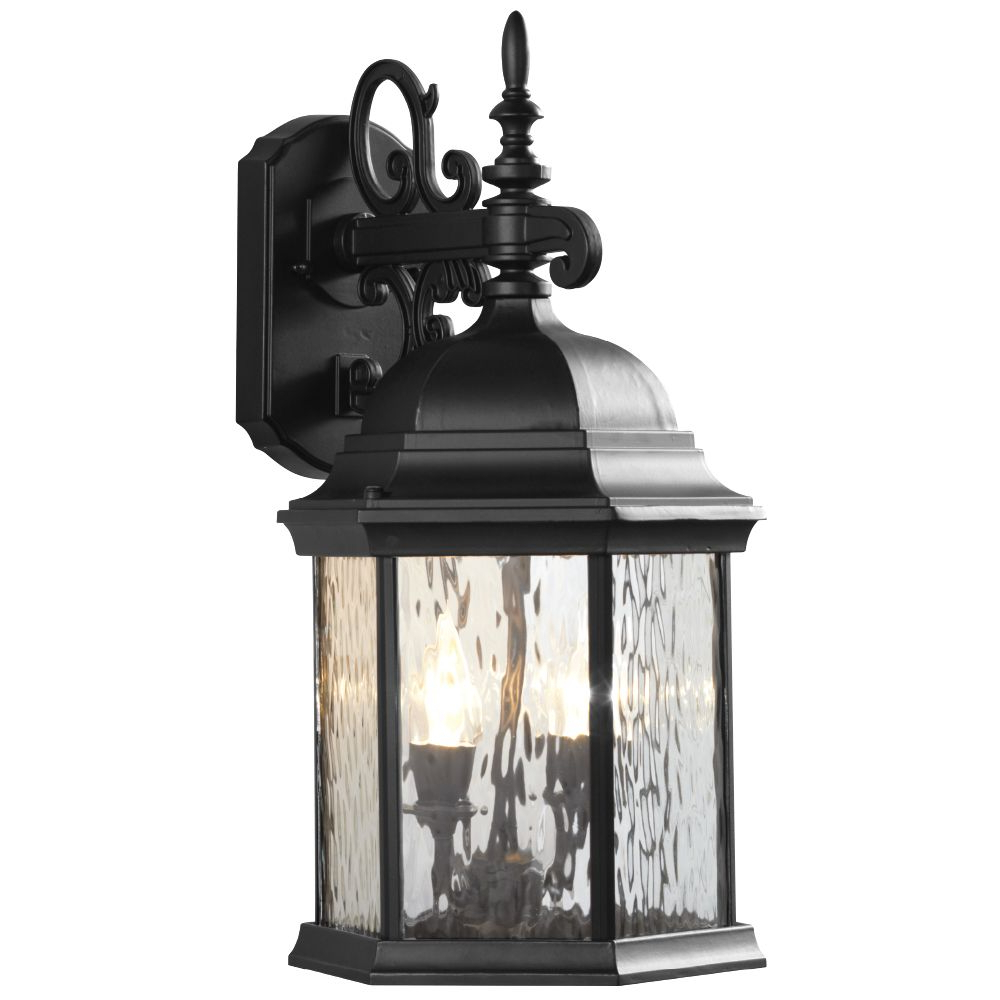 Robertson 2 – Bulb Seeded Glass Outdoor Wall Lanterns With Regard To Latest Hampton Bay 2 Light Exterior Led Wall Lantern Black Matte (View 12 of 20)