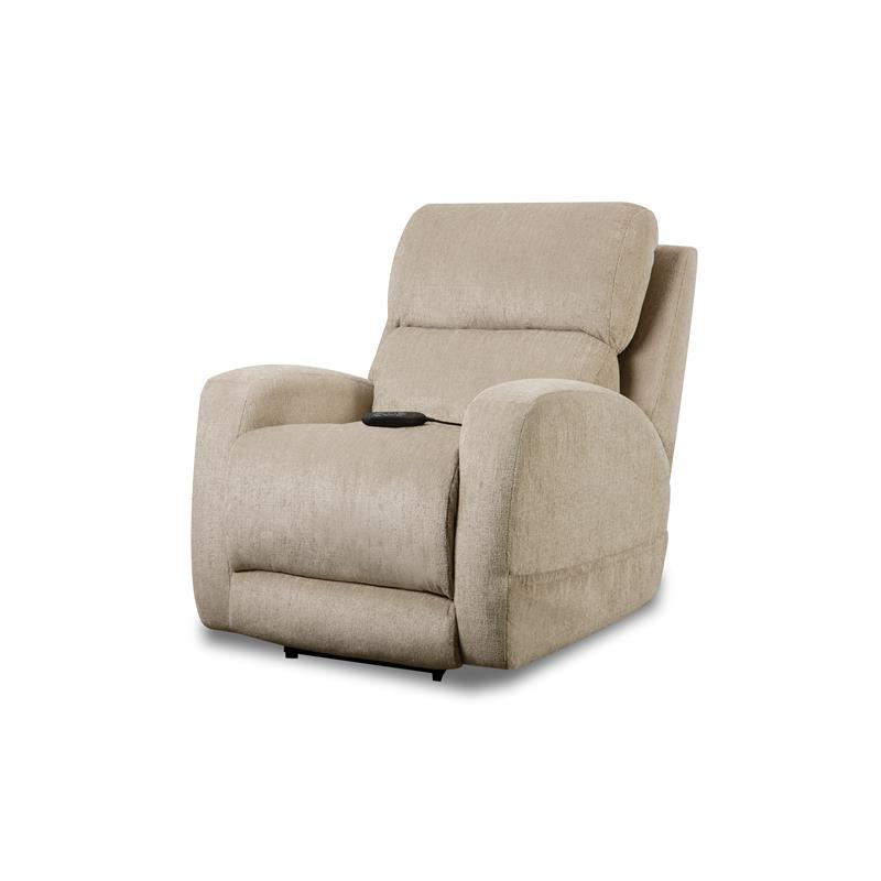 Robinson Triple Power Recliner In Fawnbeige Fabric Regarding Widely Used Charleston Triple Power Reclining Sofas (View 18 of 20)