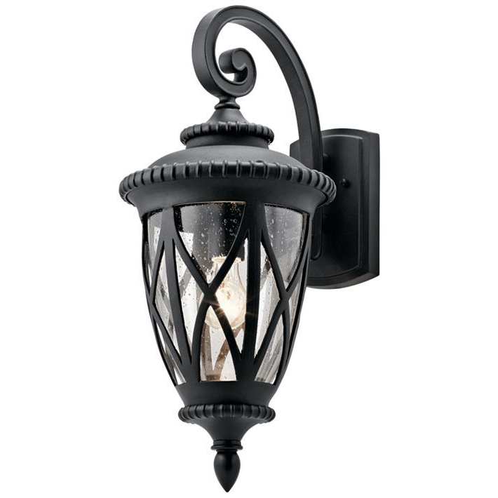 """Rockefeller Black 2 – Bulb  Outdoor Wall Lanterns Pertaining To Best And Newest Kichler Admirals Cove 23 1/2"""" High Black Outdoor Wall (View 1 of 20)"""
