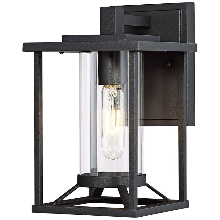 """Rockefeller Black 2 – Bulb  Outdoor Wall Lanterns Pertaining To Well Liked Trescott 11 1/2"""" High Black Outdoor Wall Light – #53w (View 19 of 20)"""