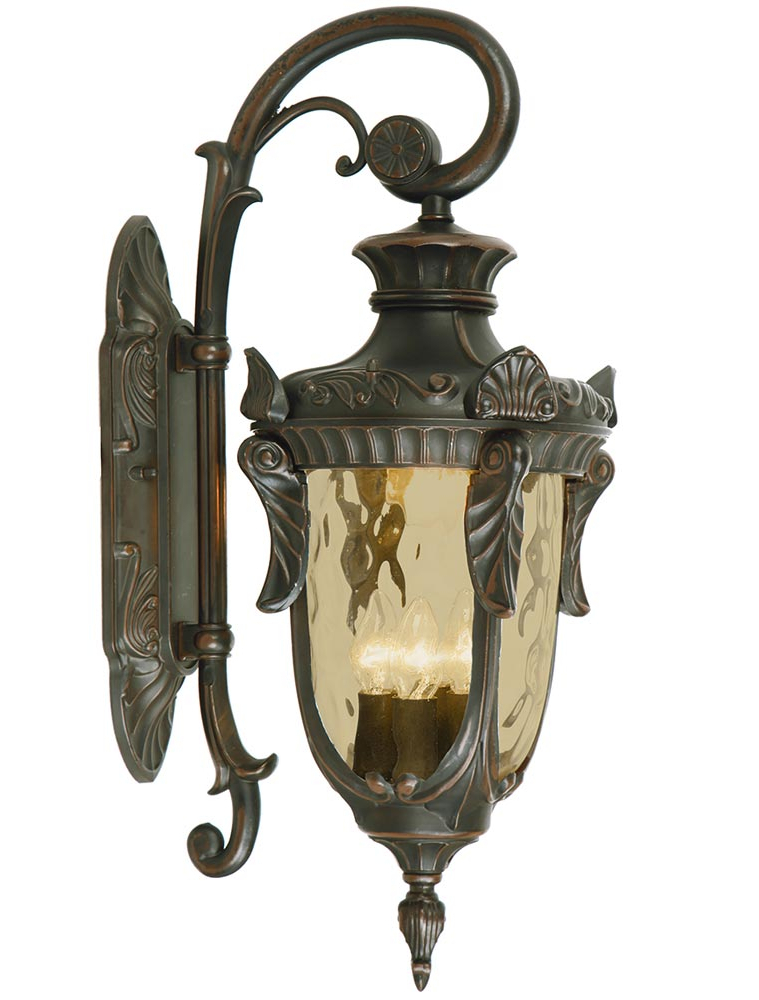 Rockmeade Black Outdoor Wall Lanterns Intended For 2018 Elstead Philadelphia 3 Light Large Outdoor Wall Lantern (View 8 of 20)