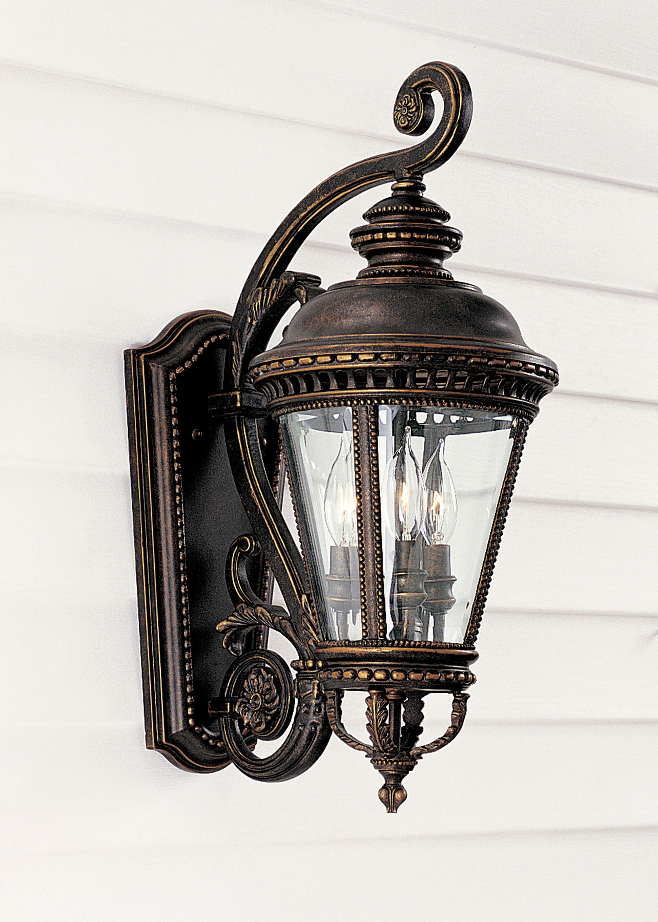 Rockmeade Black Outdoor Wall Lanterns Throughout Widely Used Murray Feiss Ol1901gbz Castle Outdoor Wall Lantern (View 12 of 20)