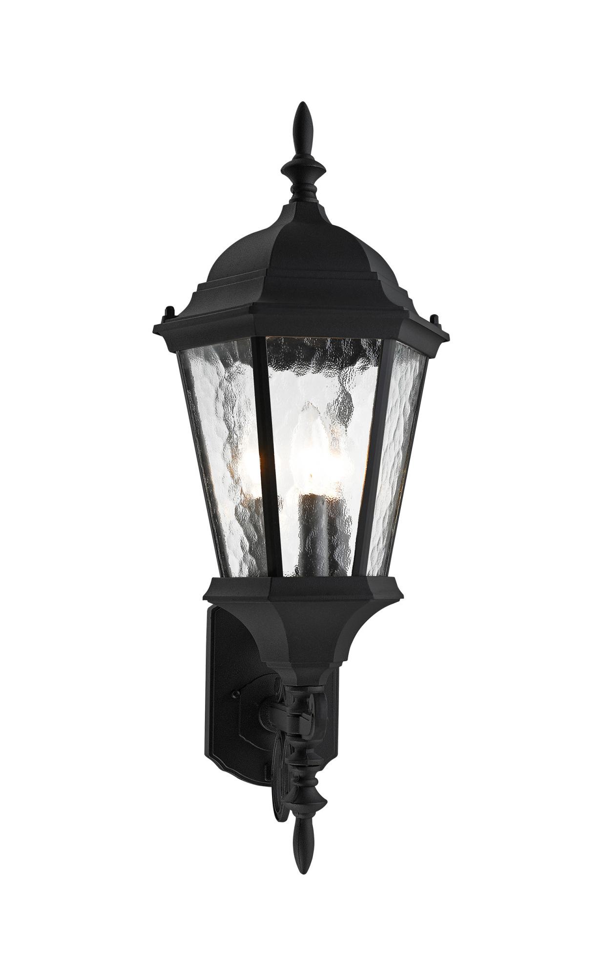 Roden Black 3 Bulb Outdoor Wall Lanterns Regarding Trendy Livex Lighting 75467 Black Hamilton 3 Light Outdoor Wall (View 17 of 20)