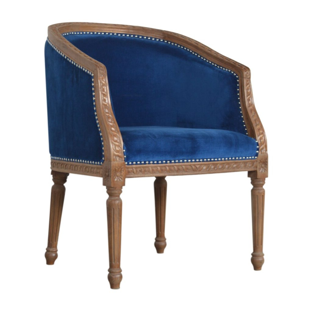 Royal Blue Velvet Occasional Chair – Artisan Furniture Within Most Recent Artisan Blue Sofas (View 18 of 20)