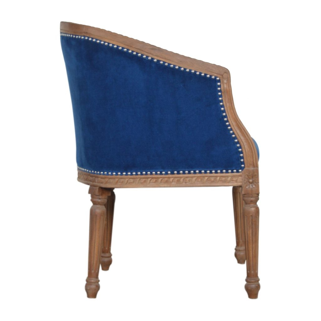 Royal Blue Velvet Occasional Chair – Artisan Furniture Within Most Recent Artisan Blue Sofas (View 8 of 20)