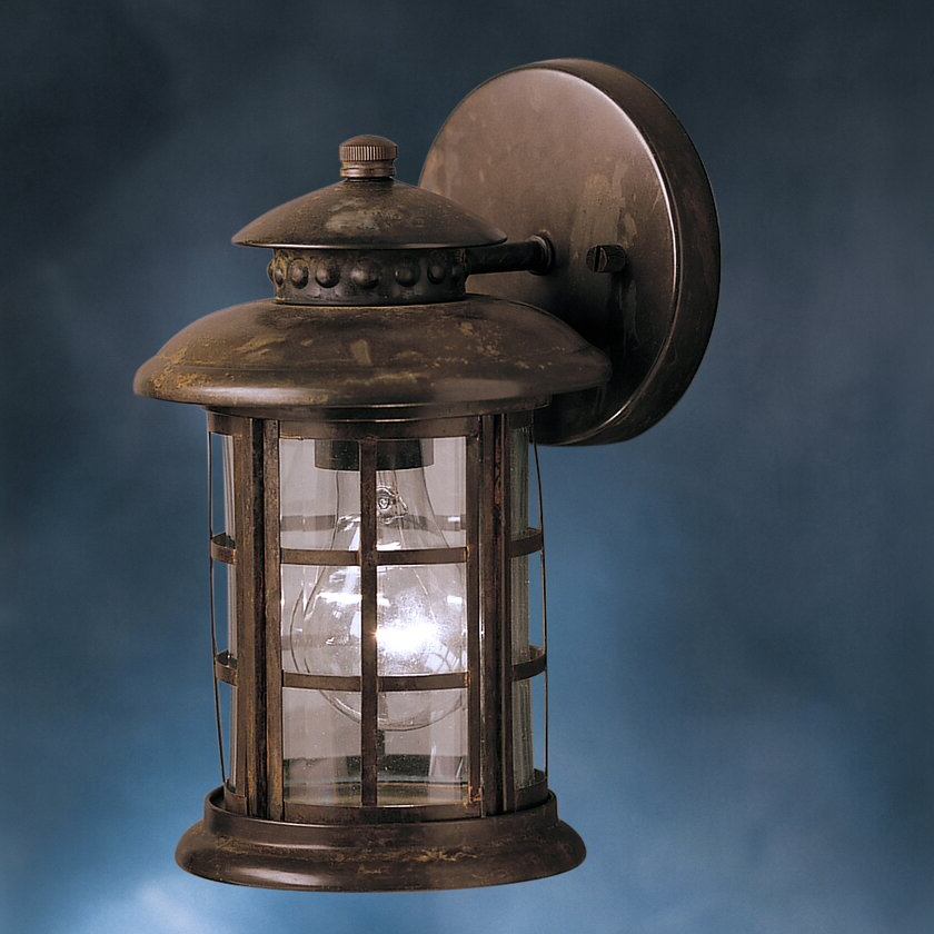 Rustic 1 Light Outdoor Wall Lantern (View 4 of 20)