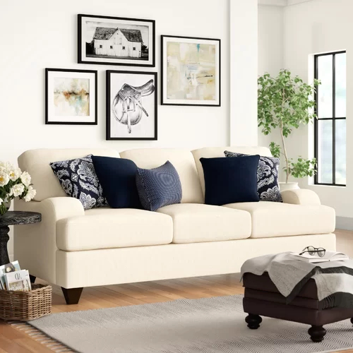 Sandpoint 90'' Chenille Recessed Arm Sleeper With Inside Preferred Hugo Chenille Upholstered Storage Sectional Futon Sofas (View 19 of 20)