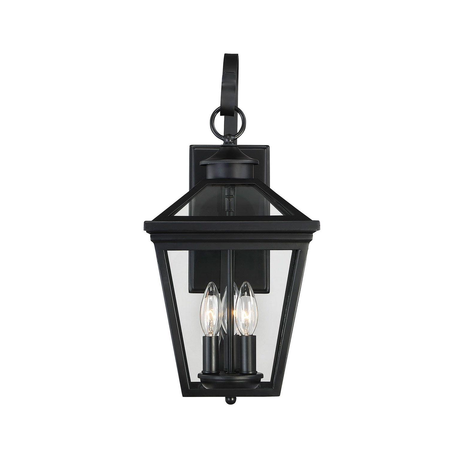 Savoy House Ellijay Black 3 Light 9 Inch Outdoor Wall With Regard To Well Liked Roden Black 3 Bulb Outdoor Wall Lanterns (View 14 of 20)